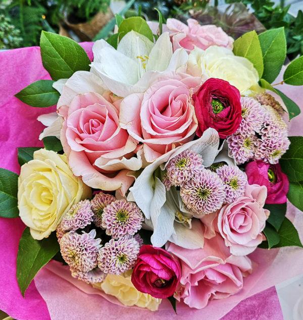 Rosa pastell blommor hos Crossandras Blommor