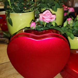 gelé hjärtan med ros till Mors dag Crossandra Blommor