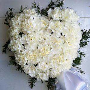 vit dekoration hjärta