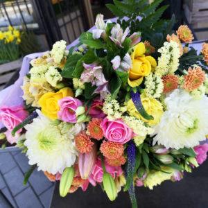 glad bukett blommor Sollentuna spånga